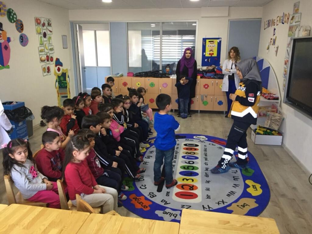 112 Acil Servis Okulumuzu Ziyaret Etti.   Kayseri Konaklar İlkoku...