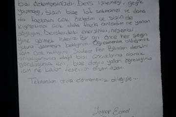 Öğretmenime Özlem Dolu Mektubum...