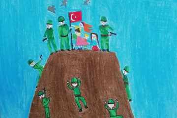 29 Ekim Cumhuriyet Bayramı Konulu Resim Sergimizden Kareler