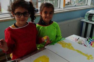 Tuval Boyama Çalışmalarına Başkadık☺️   İstanbul Pendik İlkokulu...
